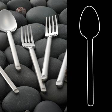 "Dessert Spoon, 7-1/4"", 18/10 stainless steel, Rene Ozorio Graphite (USA stock it"