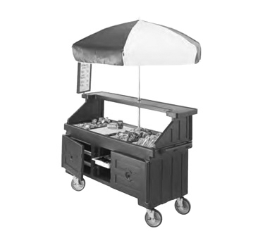 """Camcruiser® Vending Cart, 74-1/4"""" x 31-3/4"""" x 94""""H, with 4 full size counter top"""