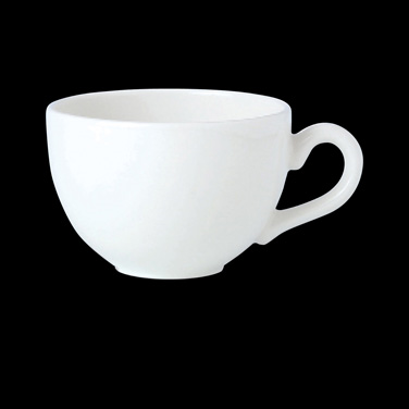 "Empire Cup, 8 oz., 4-3/4""W X 2-3/8""H, low, vitrified ceramic, Performance, Simpl"
