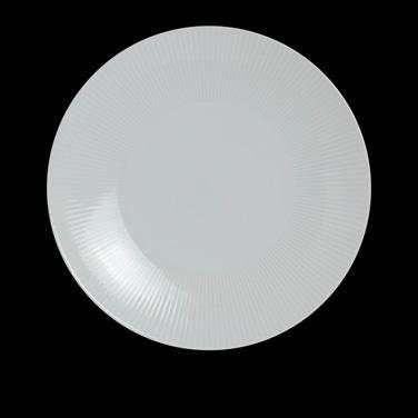"Plate, 6-3/4"" dia., round, coupe, porcelain, Sonata, Rene Ozorio (USA stock item"