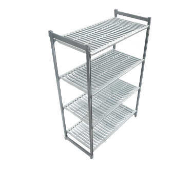 """Camshelving® Basics Starter Unit, 21""""W x 54""""L x 72""""H, 4-tier, withstands tempera"""