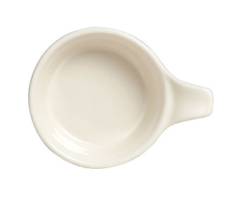"Casserole/Tab Soup, 11 oz., 5-3/4"" x 1-7/8"", round, with 1-5/8"" tab, clear glaze"