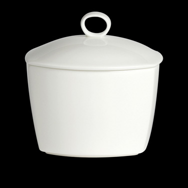 Sugar Bowl Cover Only, unembossed white, bone china, Narumi, Strata (non-stock i