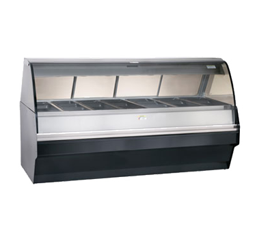 "Halo Heat® Hot Deli Display System, full-service, (7) full size 2-1/2"" deep & (7"