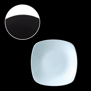 "Plate, 9"" x 9"", square. Distinction, Metro, Dusk (USA stock item) (minimum = cas"