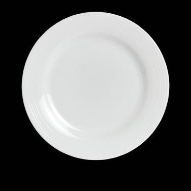 "Dinner Plate, 11-1/4"" dia., round, wide rim, porcelain, Rene Ozorio Virtuoso (US"
