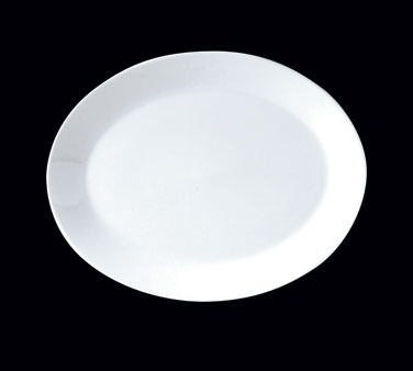 "Platter, 11"", oval, Distinction, Vogue, Monaco White (USA stock item) (minimum ="