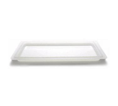 "Cover, food storage, flat, 12"" x 18"", natural white, polyethylene, NSF"