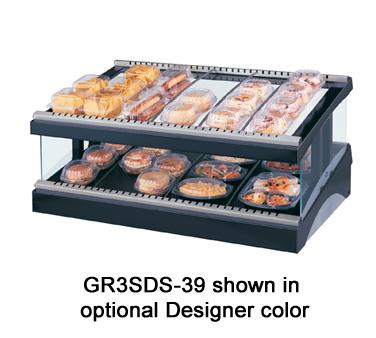 Glo-Ray® Designer Slant Display Warmer, (14) rods, free-standing, (1) shelf, adj
