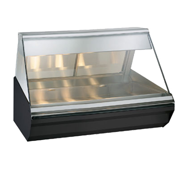 "Halo Heat® Heated Display Case, countertop, 48"" L, full-service, lift-up flat gl"