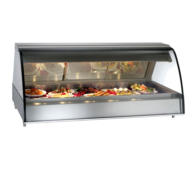 "Halo Heat® Deli Display Case, heated, full-service, countertop, 72"", curved glas"