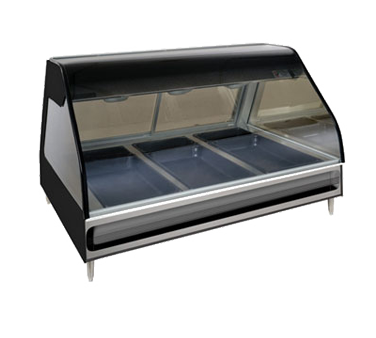 "Halo Heat® Heated Display Case, countertop 48"" L, self-serve, open front, (6) ov"