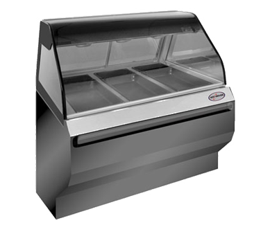 "Halo Heat® Heated Display Case with European Style Base, 48"" L, self-serve, open"