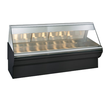 "Halo Heat® Heated Display Case System, 96"" L, full/self-service, self-service on"