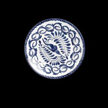 "Plate, 10-1/4"" dia., round, Anfora, Puebla (USA stock item) (minimum = case quan"
