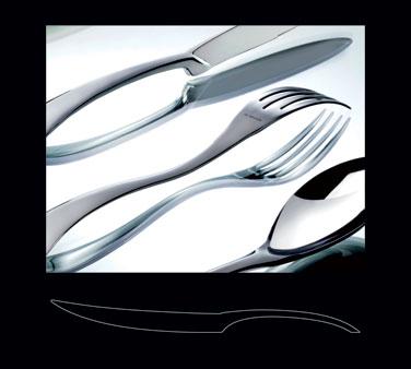 "Steak Knife, 9-3/4"", solid handle, stainless steel, La Tavola, New Wave (USA sto"