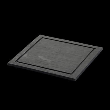 "Mainecourse Plate, 10-5/8"" X 10-5/8"", square, fine, with feet, oven/microwave sa"
