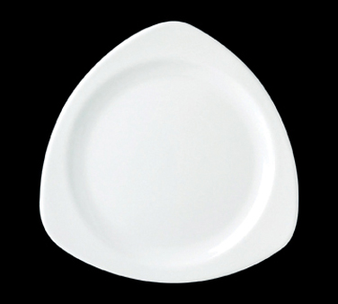 "Tri-Plate, 10-3/4"" triangle, vitrified ceramic, Performance, Simplicity, White ("