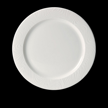 "Plate, 9"" dia., round, flat, rimmed, freezer/microwave/dishwasher safe, lifetime"