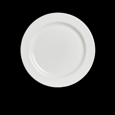 "Plate, 9-5/8"" dia., round, rimmed, rolled edge, Anfora, American Basics (USA sto"