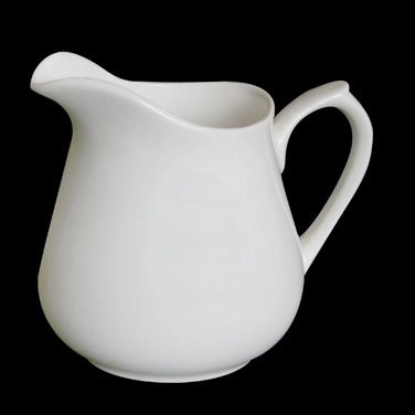 "Creamer, 8 oz., 4-1/8"" x 3-1/8""H, with handle, bone china, Tria (minimum = case"