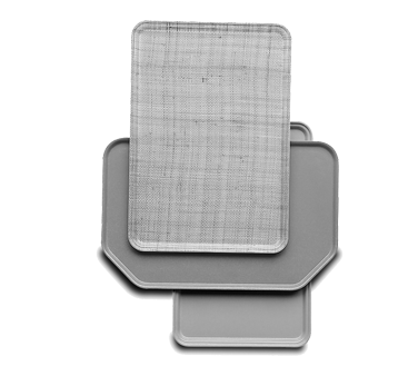 "Camtray®, metric, 33 cm x 33 cm (13"" x 13""), high-impact fiberglass, dishwasher"