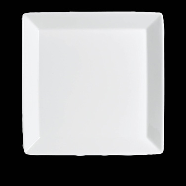 "Plate, 6"", square, bone china, Rene Ozorio, Paris Hotel (USA stock item) (minimu"