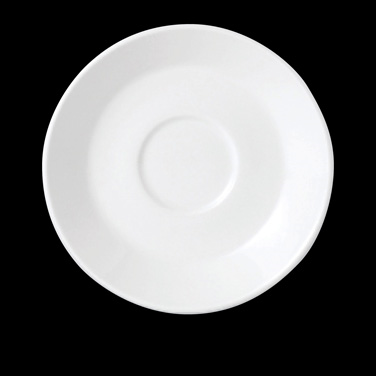 "Slimline Saucer, 6"" dia., round, single well, vitrified china, Performance, Simp"