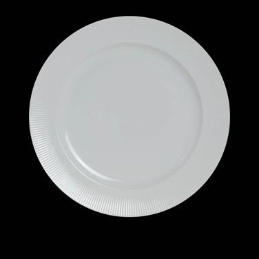 "Banquet Dinner Plate, 10-5/8"" dia., round, porcelain, Sonata, Rene Ozorio (USA s"