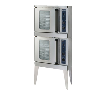 Platinum Series Convection Oven, Electric, stacked, half-size, manual controls,