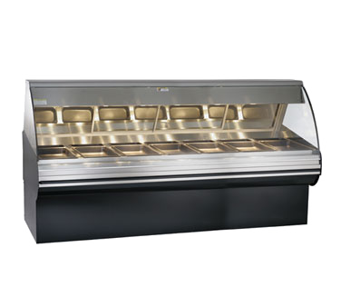 """Deli Display Case, 96"""" L, heated, self-service, with base, open front design, le"""