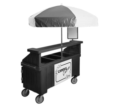 "Camcruiser® Vending Cart, 74-1/2"" x 31-3/4"" x 94""H, with 3 full size counter top"