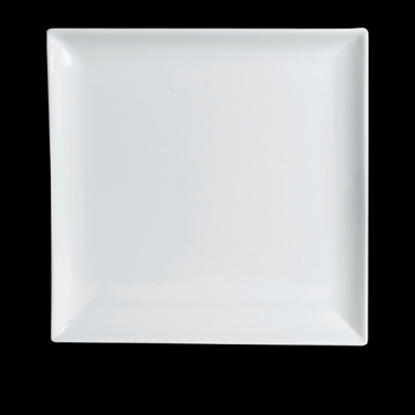 Plate, 8'', square, Varick, Café Porcelain (Canada stock item) (minimum = case q