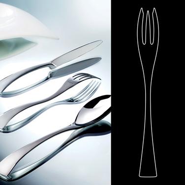 """Fish Fork, 8-1/2"""", stainless steel, La Tavola, New Wave (USA stock item) (minimu"""