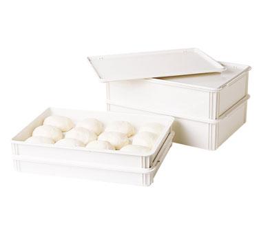 """Pizza Dough Box, 26""""L x 18""""W x 6""""D, white, polycarbonate, rounded edges, dishwas"""