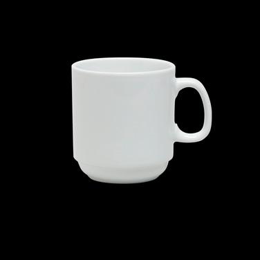 "Mug, 10 oz., 4-3/8"" x 3-5/8"", stackable, Varick Cafe Porcelain (Canada stock ite"