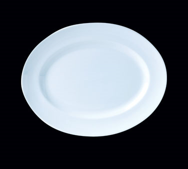 "Platter, 13"" x 10-1/4"", oval, Distinction, Vogue White (USA stock item) (minimum"