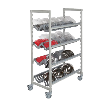 "Camshelving® Premium Mobile Angled Drying Rack Cart, 24""W x 48""L x 75""H, include"