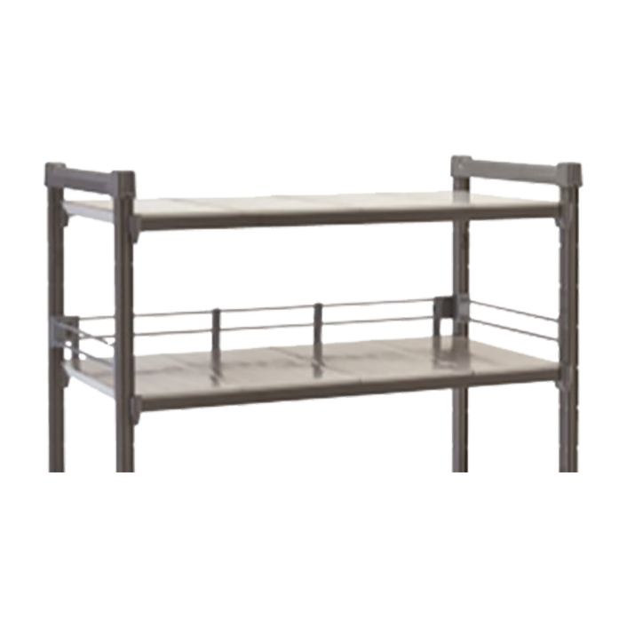 "Camshelving® Elements Three-Quarter Shelf Rail Kit, 24""W x 72""L x 4-1/4""H, inclu"