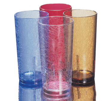 "Del Mar® Tumbler, 12 oz., top dia. 2-15/16"", bottom dia. 2"", 4-3/4""H, crackled d"