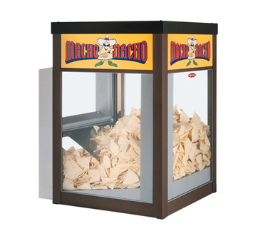 Macho Nacho™ Chip Warmer, rear loading & dispensing door, with main deck shelf o
