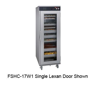 Flav-R-Savor® Humidified Holding Cabinet, single Lexan® door, (17 pair) universa