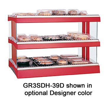 Glo-Ray® Designer Horizontal Display Warmer, (15) rods, free-standing, dual shel