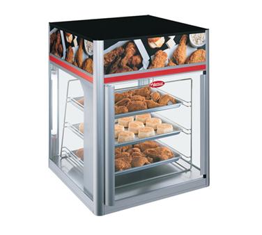 Flav-R-Savor® holding and display cabinet , (1) door, (3) tier pan rack without