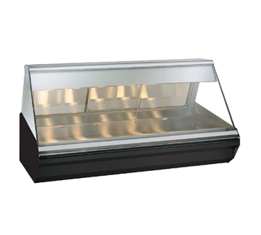 "Halo Heat® Heated Display Case, countertop, 72"" L, full-service, lift-up flat gl"