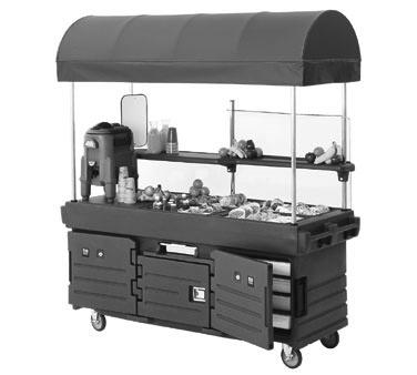 "CamKiosk® Cart, with 4 pan wells and Kentucky green canopy, 85-1/8"" x 33-1/2"" x"