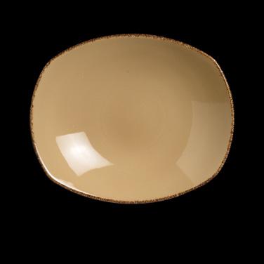 "Zest Platter, 8"" dia., round, vitrified china, Performance, Terramesa, mustard ("