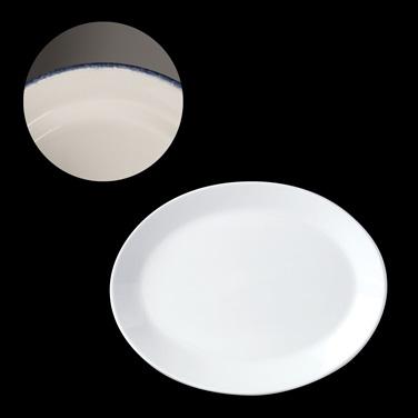 "Platter, 10"", coupe, oval, vitrified china, Performance, Simplicity, Blue Dapple"
