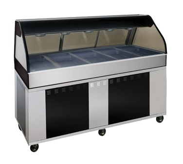 "Hot Deli Cook/Hold/Display System, 72"" L, 2 ft. self-service left side, includes"