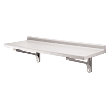 "Camshelving® Wall Shelf, solid, 18"" x 48"", polypropylene, 2"" molded backsplash,"